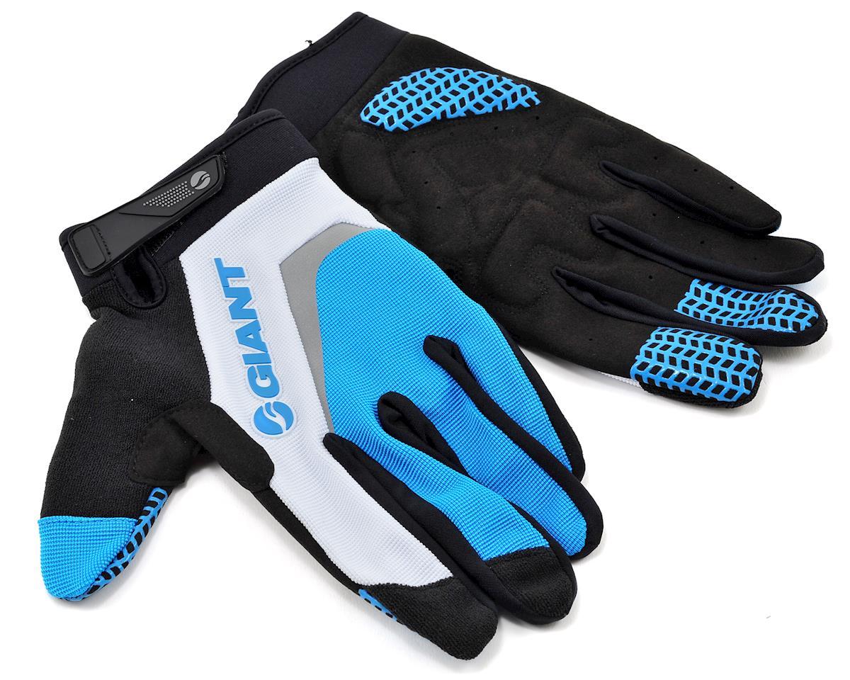 Giant Horizon Long Finger Bike Gloves (Blue) (M)