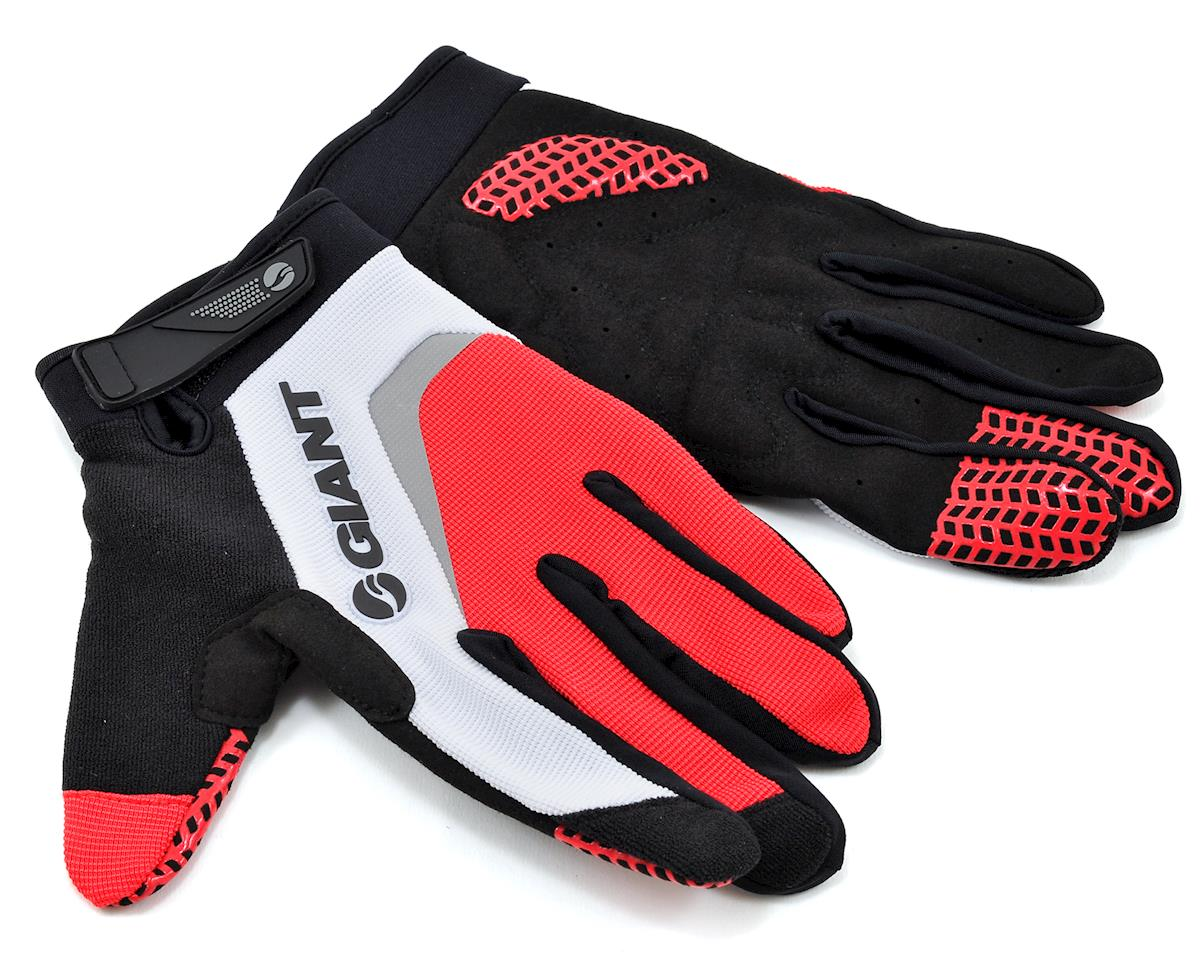 Giant Horizon Long Finger Bike Gloves (Red) (L)