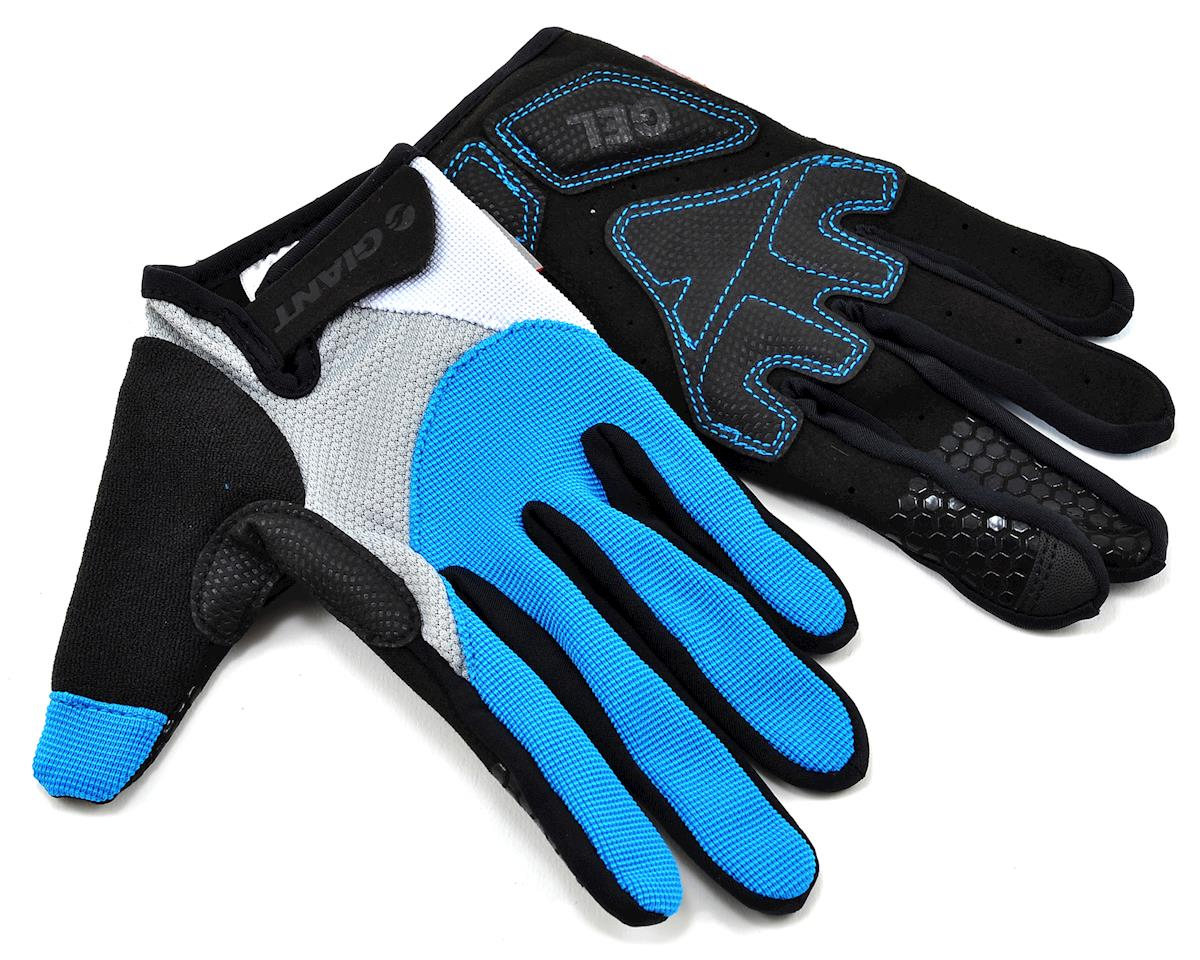 Giant Streak Gel Long Finger Bike Gloves (Blue)