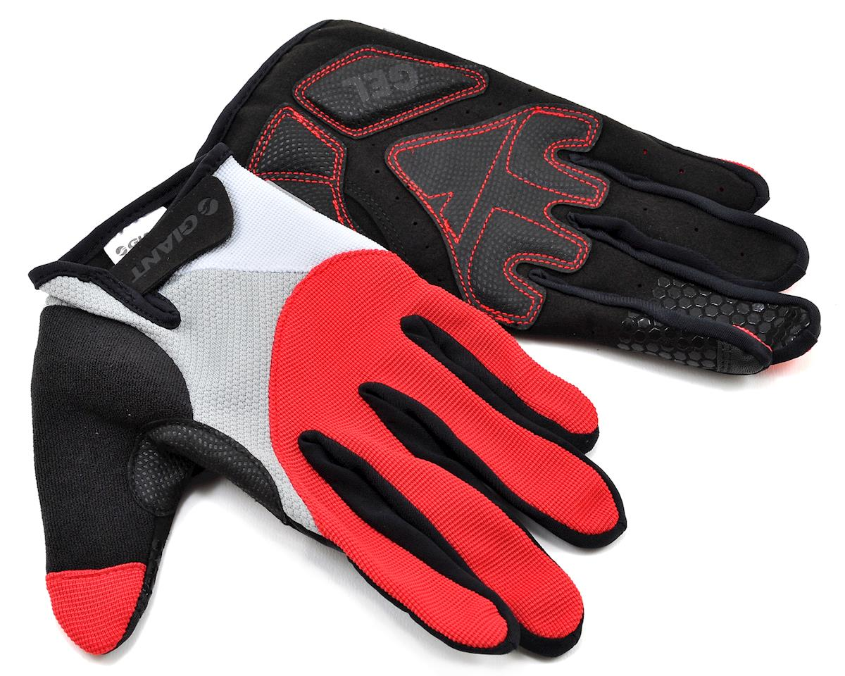 Giant Streak Gel Long Finger Bike Gloves (Red)