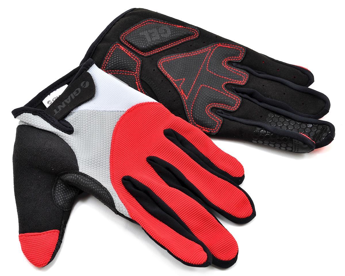 Giant Streak Gel Long Finger Bike Gloves (Red) (S)