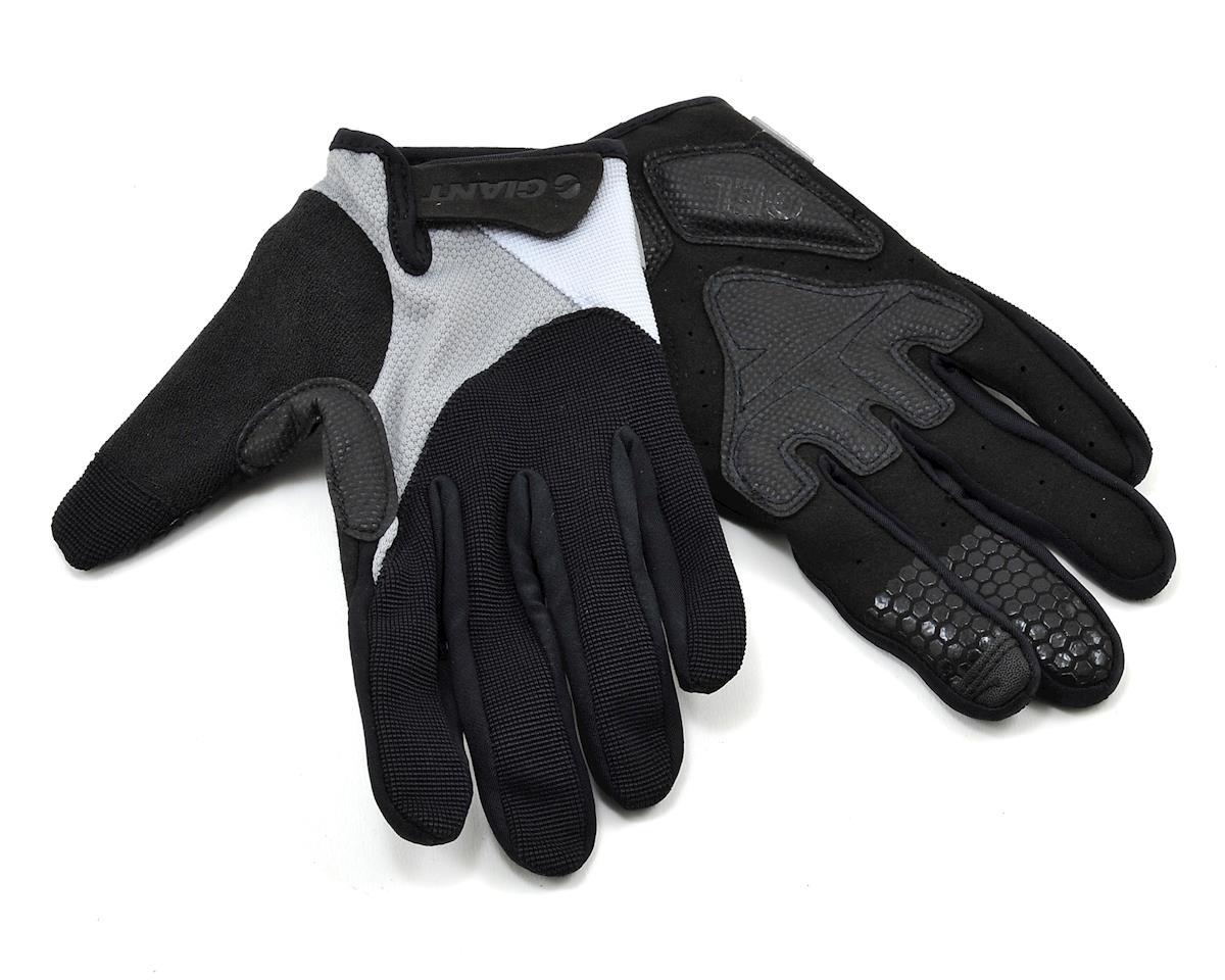 Giant Streak Gel Long Finger Bike Gloves (Blue) (Grey) (S)