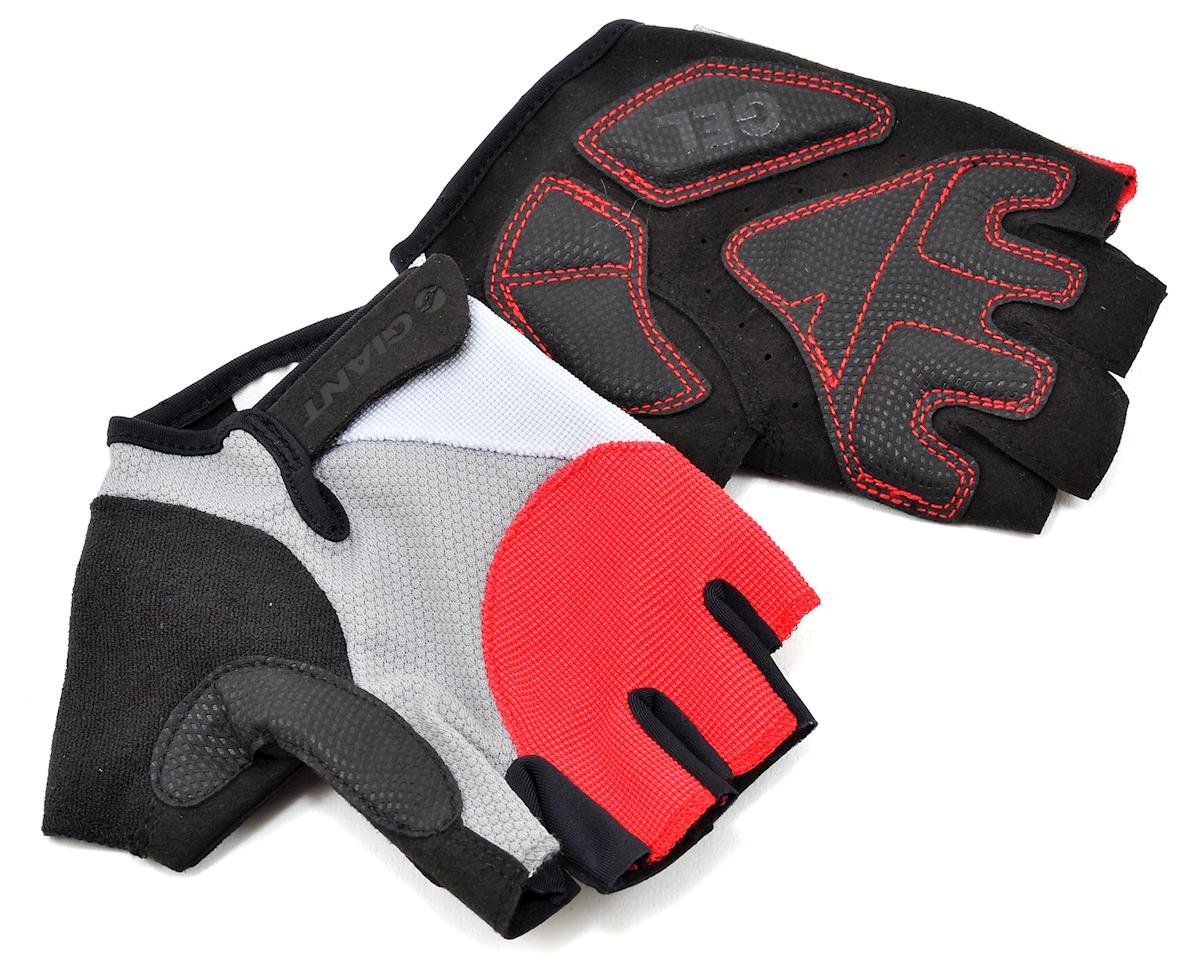 Giant Streak Gel Short Finger Bike Gloves (Red) (S)