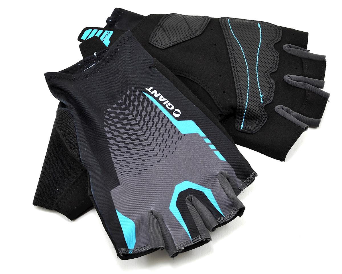 Giant Rev Short Finger Bike Gloves (Black/Blue) (XS)