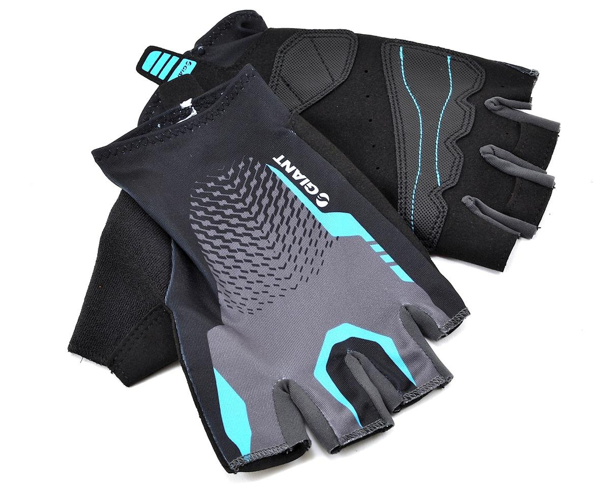 Giant Rev Short Finger Bike Gloves (Black/Blue) (XL)