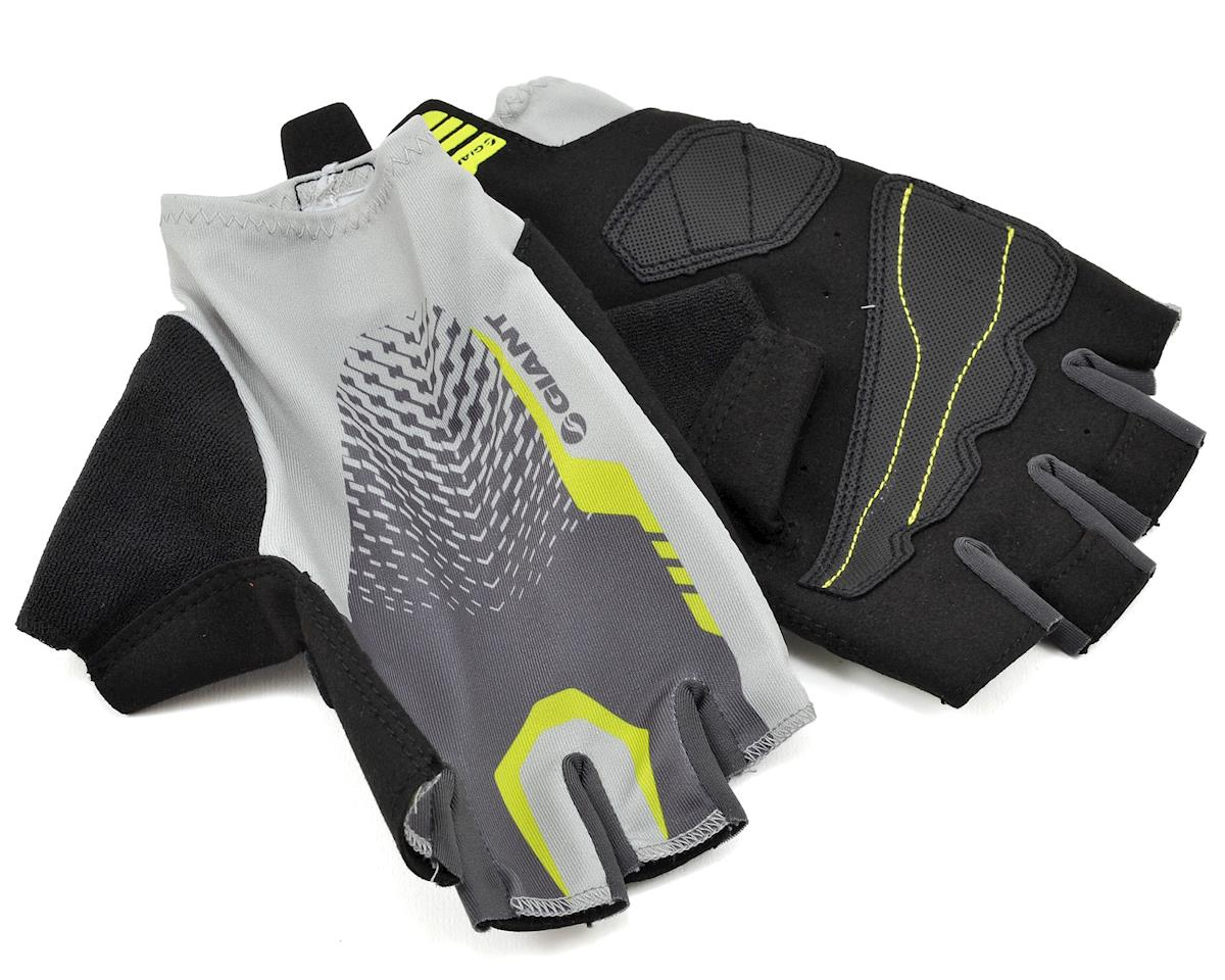 Giant Rev Short Finger Bike Gloves (Grey/Neon Green) (XS)