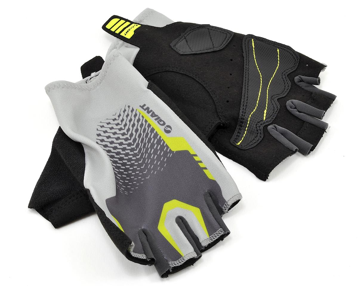 Giant Rev Short Finger Bike Gloves (Grey/Neon Green) (S)