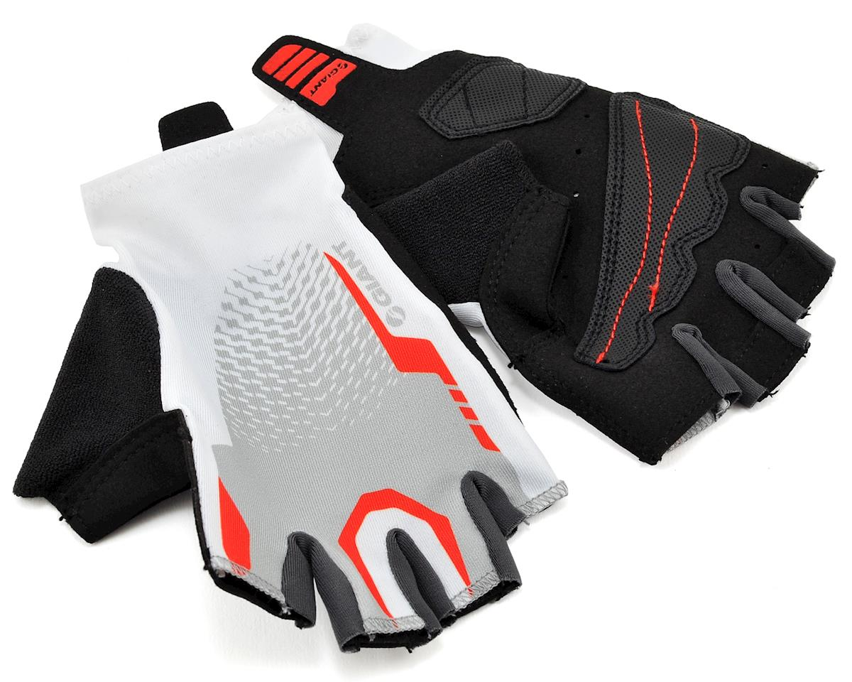 Giant Rev Short Finger Bike Gloves (White/Red)