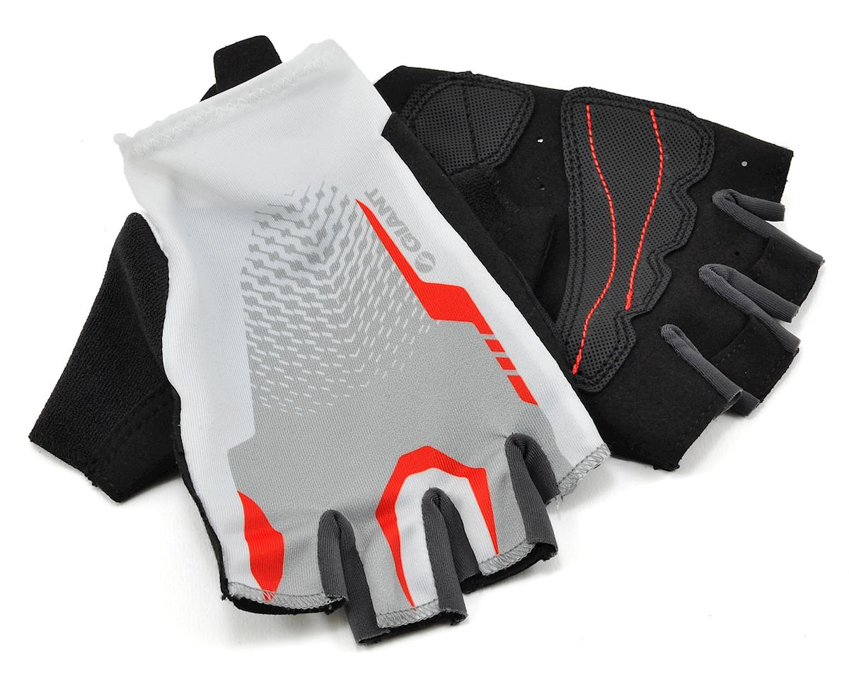 Giant Rev Short Finger Bike Gloves (White/Red) (M)