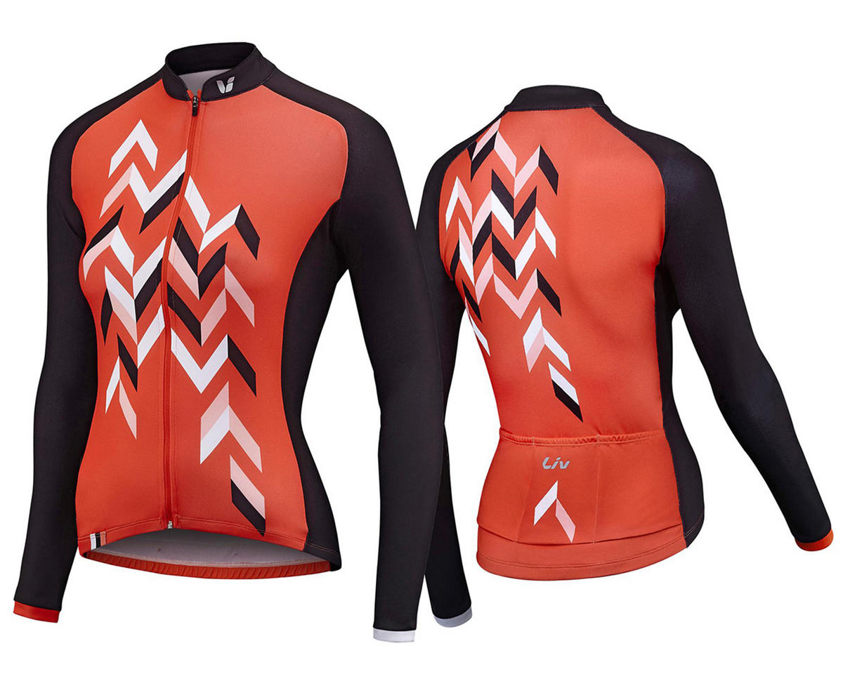 Liv/Giant Accelerate Long Sleeve Thermal Jersey (Coral/Charcoal) (S)
