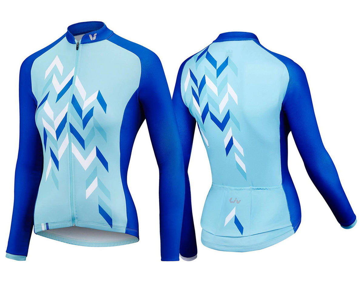 Liv/Giant Accelerate Long Sleeve Thermal Jersey (Aqua/Blue) (S)