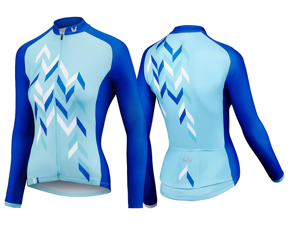 Liv/Giant Accelerate Long Sleeve Thermal Jersey (Aqua/Blue) (M)