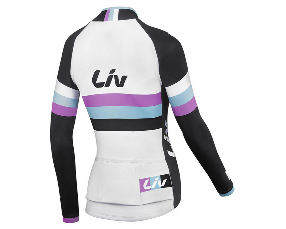 Liv/Giant Race Day Long Sleeve Jersey (White/Black) (XS)