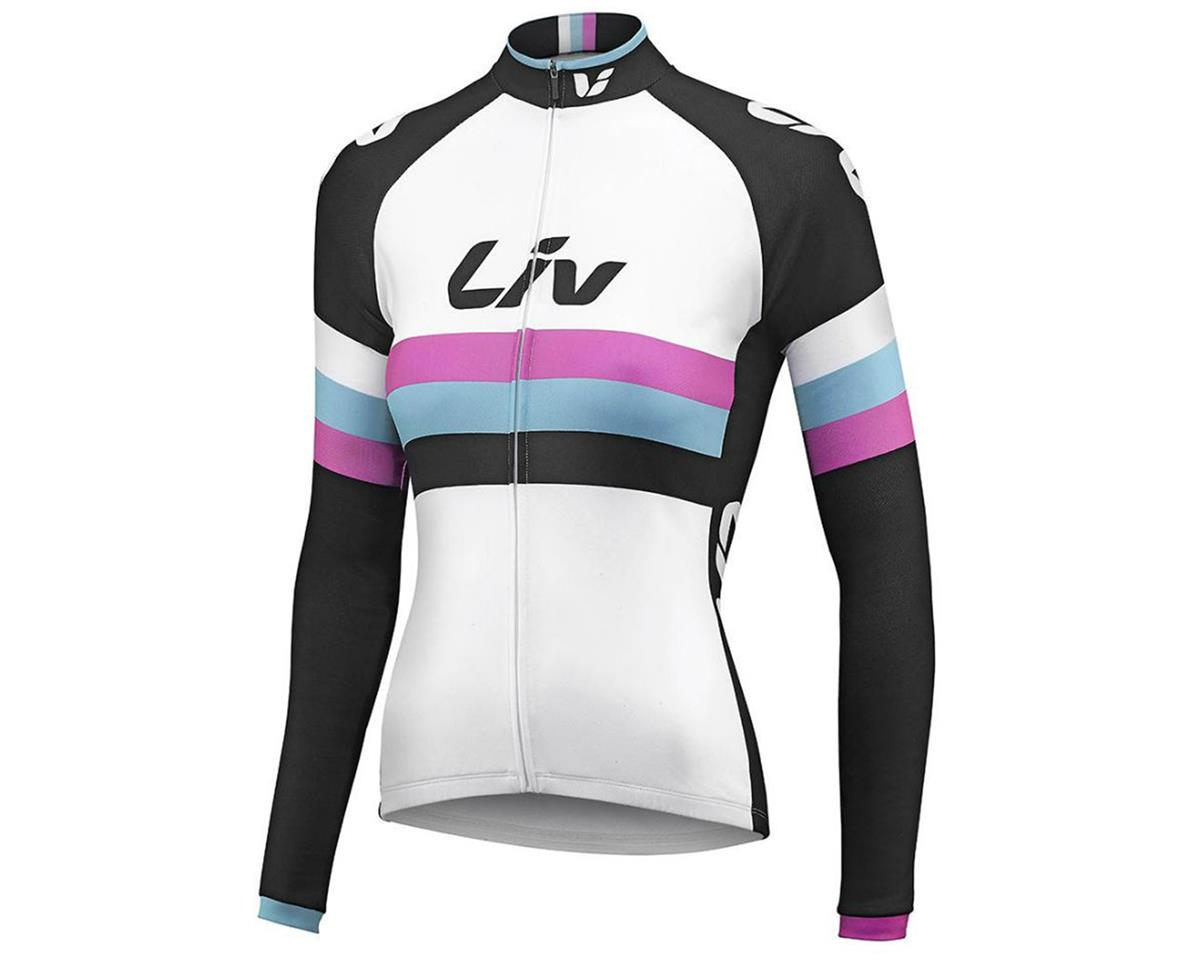 Liv/Giant Race Day Long Sleeve Jersey (White/Black) (M)