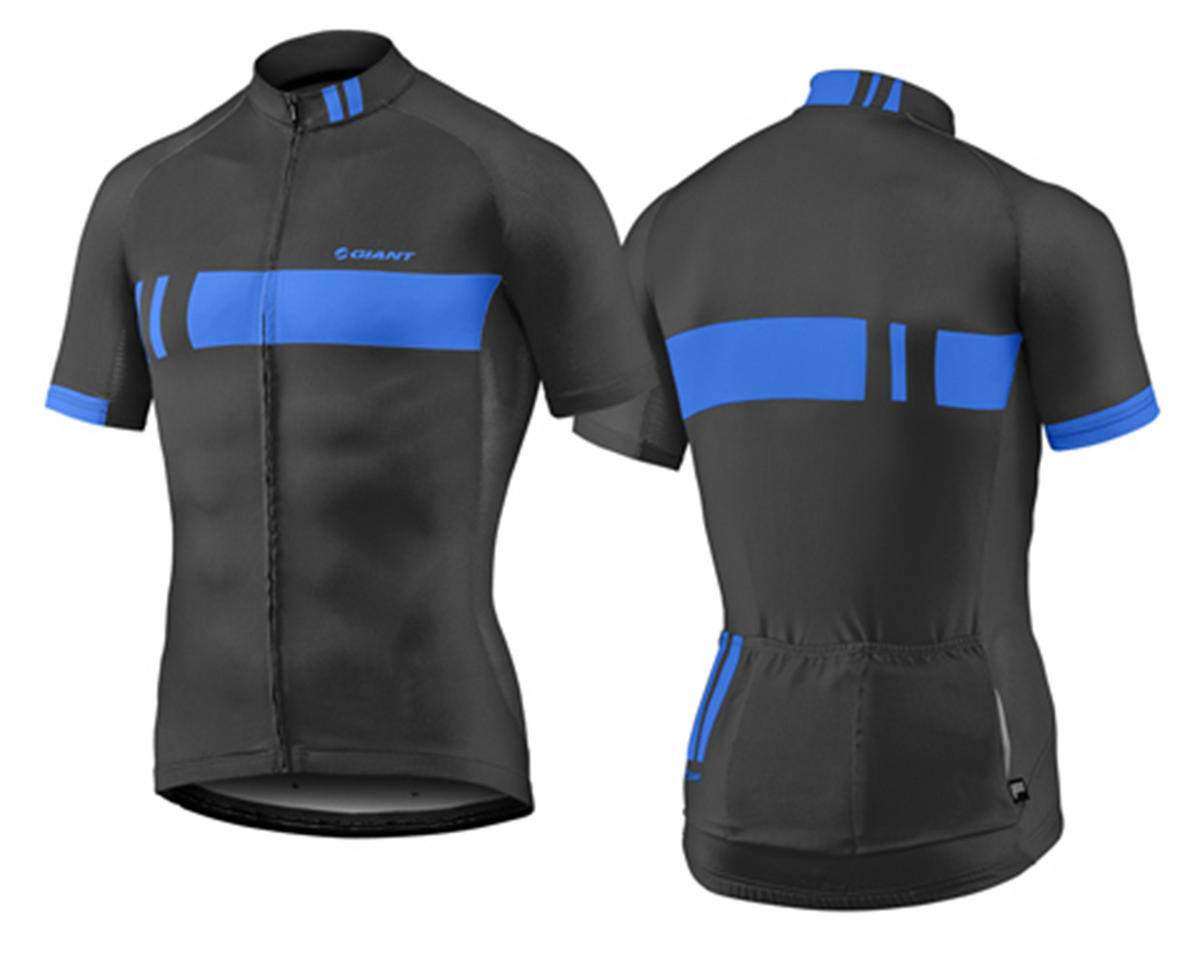 Giant Podium Bike Jersey (Black/Blue) (M)