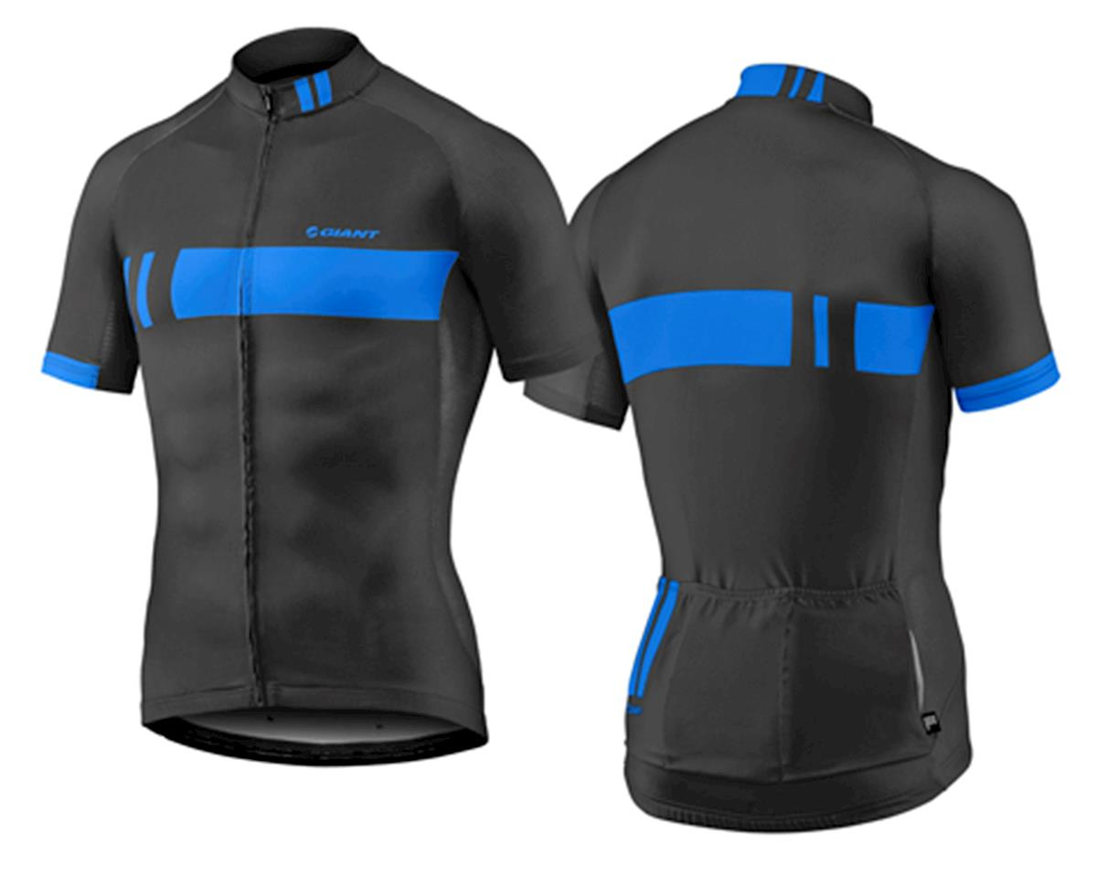 Giant Podium Bike Jersey (Black/Blue) (L)