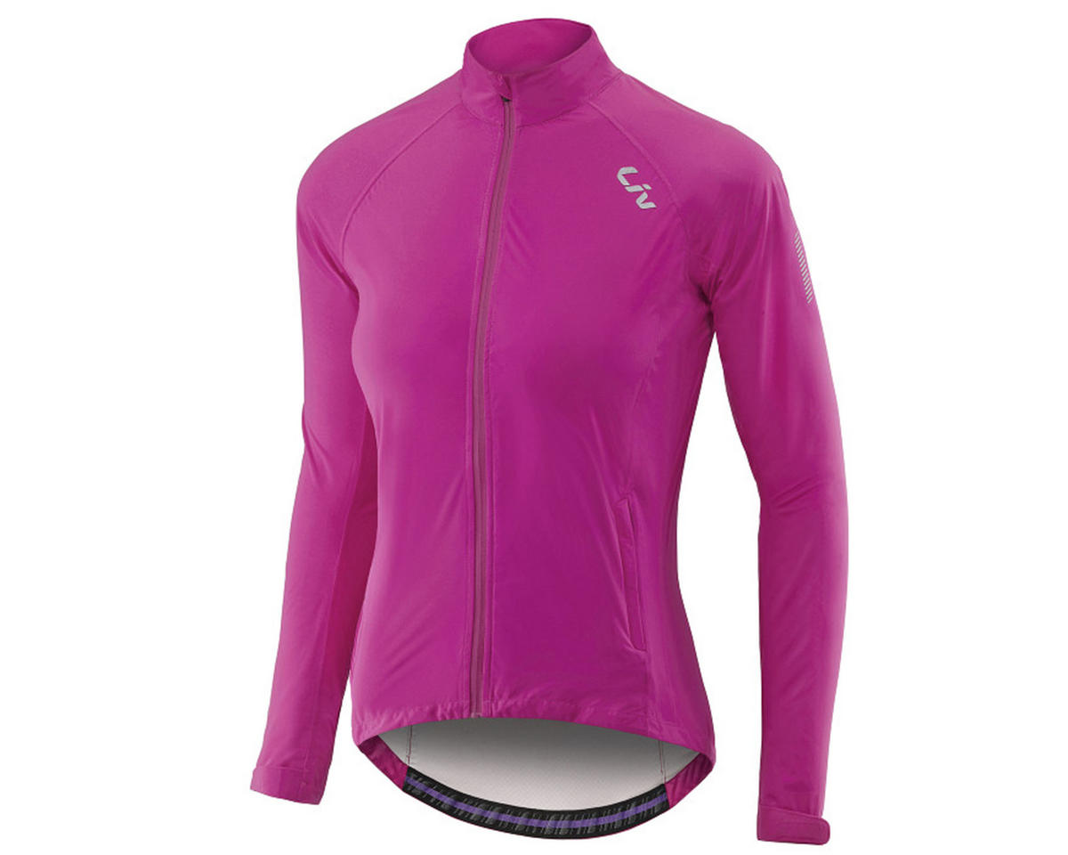 Liv/Giant Delphin Women's Rain Bike Jacket (Fuchsia) (S)