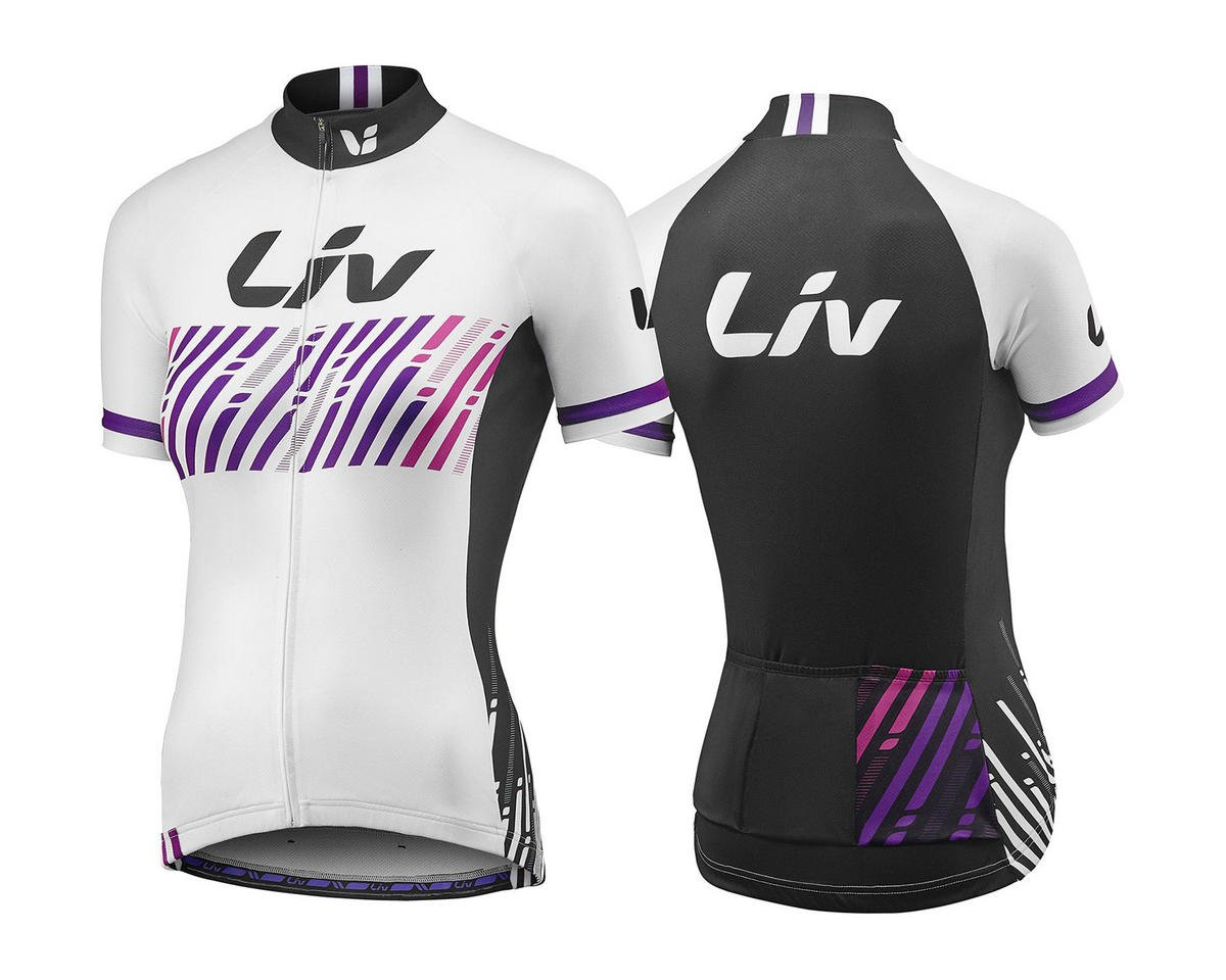 Liv/Giant BeLIV Short Sleeve Cycling Jersey (White/Black) (M)