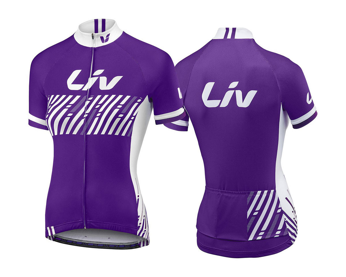 BeLIV Short Sleeve Women's Bike Jersey (Purple)