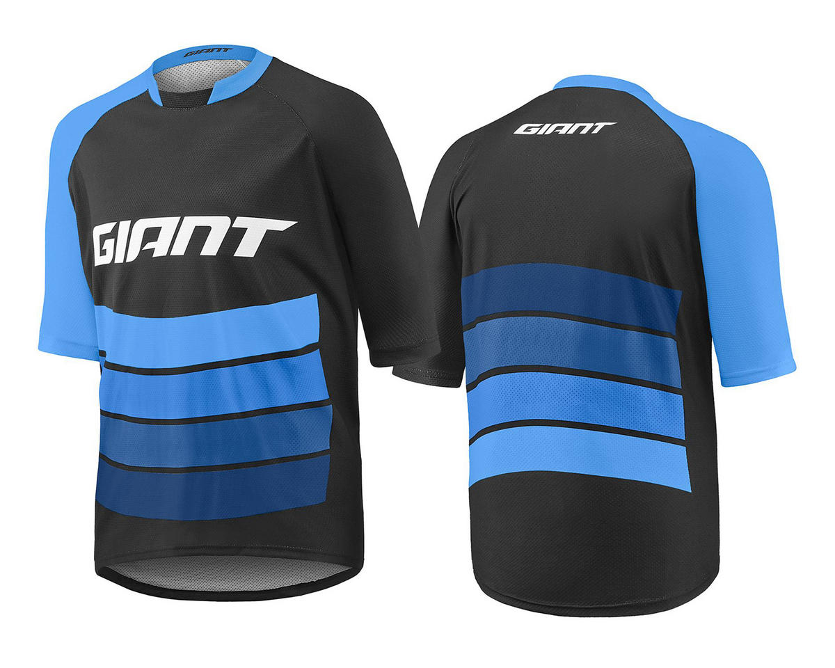 Giant Transfer Short Sleeve Cycling Jersey (Black/Blue) (L)