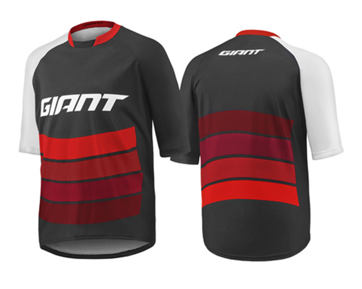 Giant Transfer Short Sleeve Cycling Jersey (Black/Red) (S)