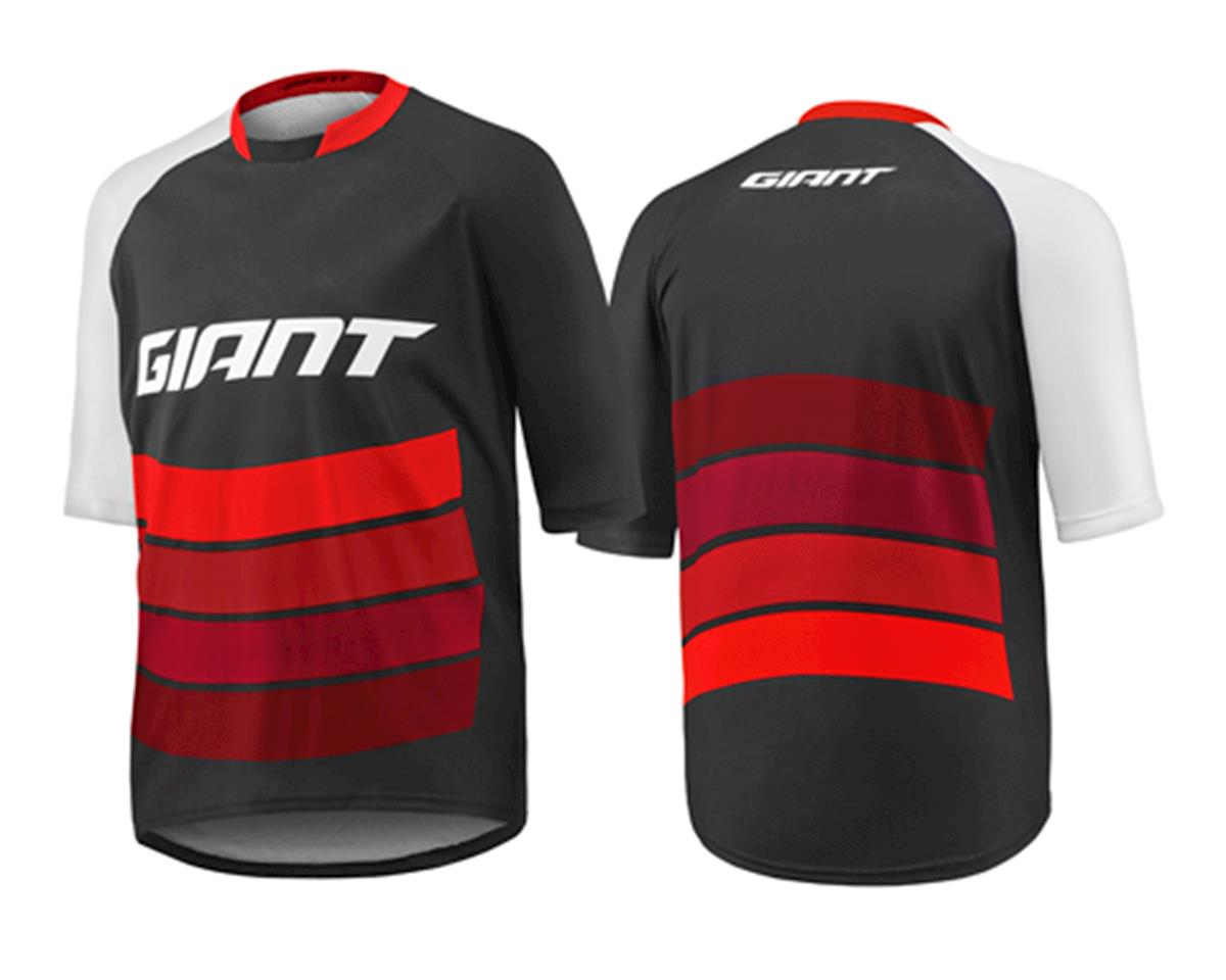 Giant Transfer Short Sleeve Cycling Jersey (Black/Red) (L)