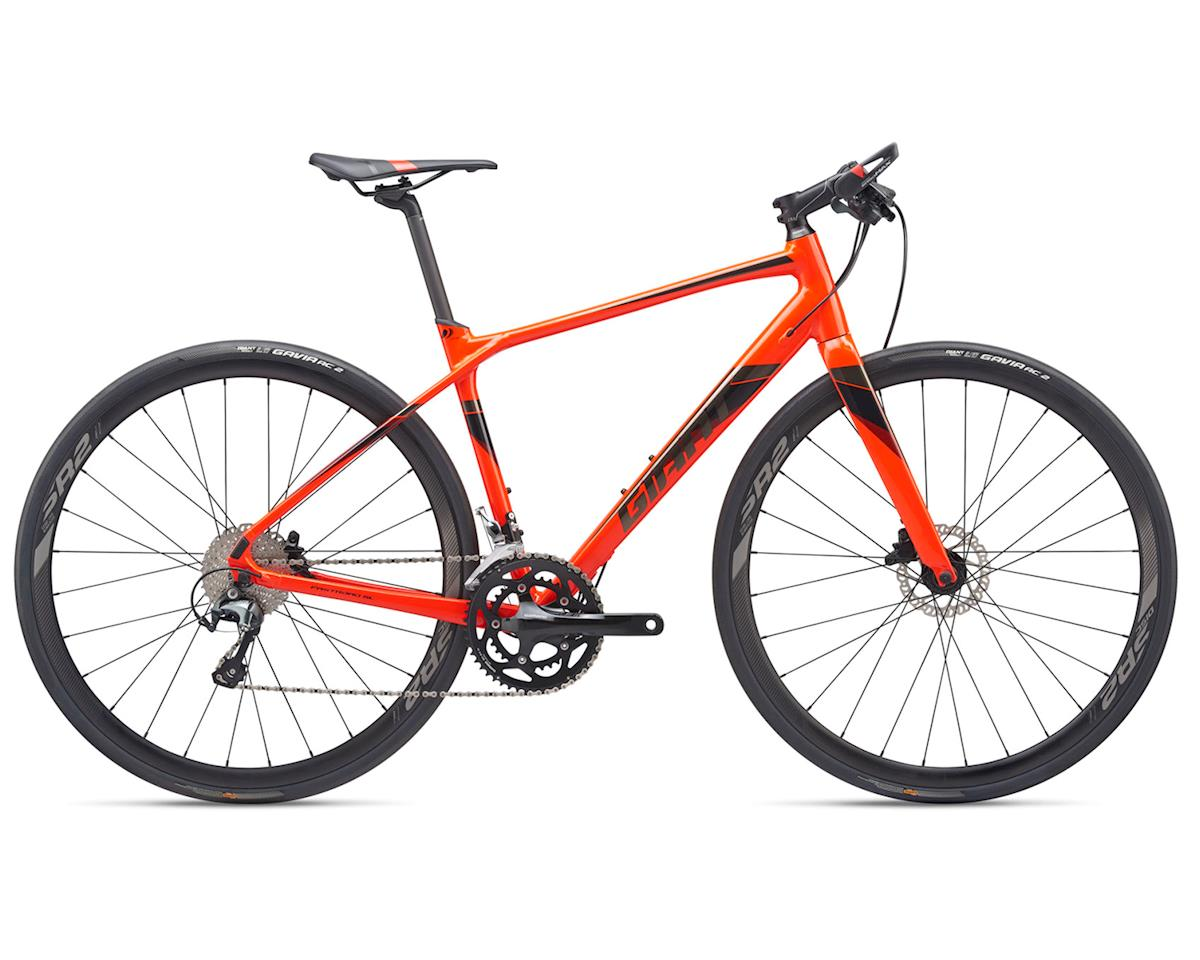 Giant 2019 FastRoad SL 1 (Neon Red/Black Chrome) (M)