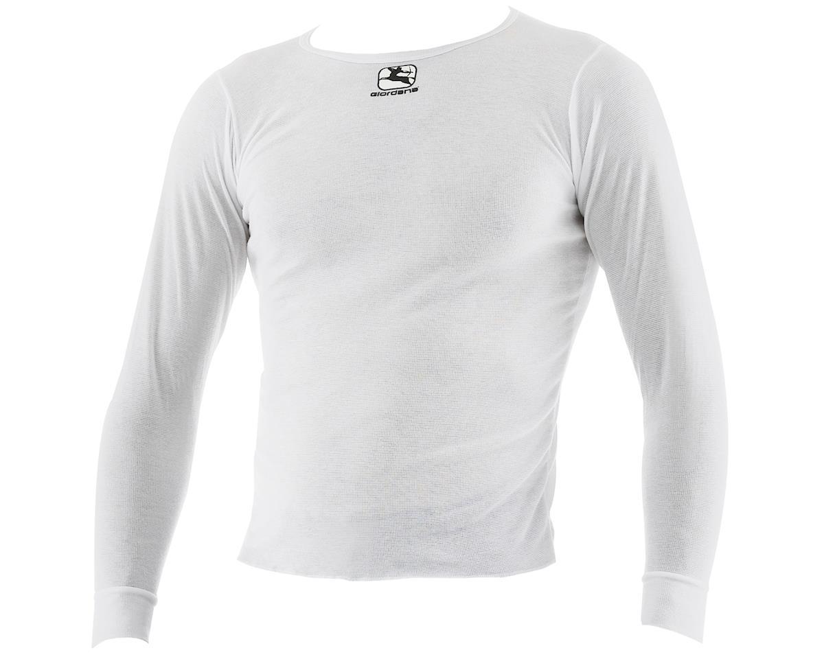 Giordana Long Sleeve Base Layer (White) (L)