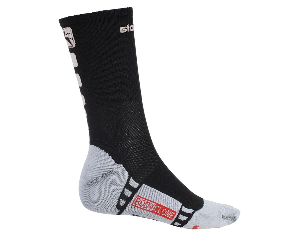 Giordana Men's FR-C Tall Cuff Socks (Black/White) (M)