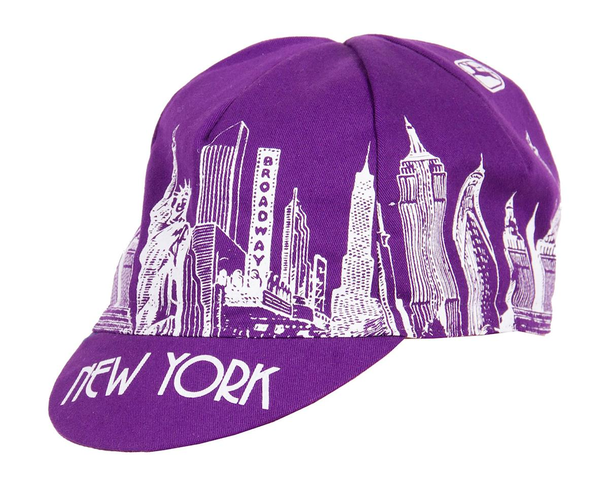 Giordana NYC Landmarks Cycling Cap (Purple/White)