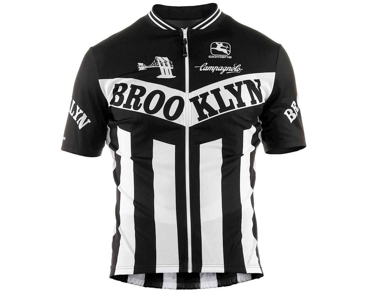 Giordana Team Brooklyn Vero Pro Fit Cycling Jersey (Black) (S)