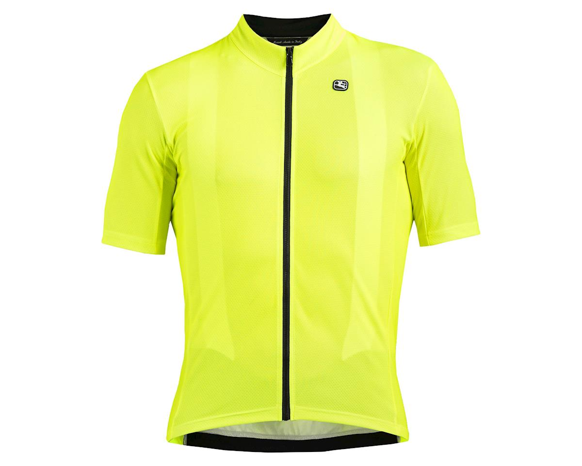 Giordana Fusion Short Sleeve Jersey (Fluo Yellow/Black) (M)