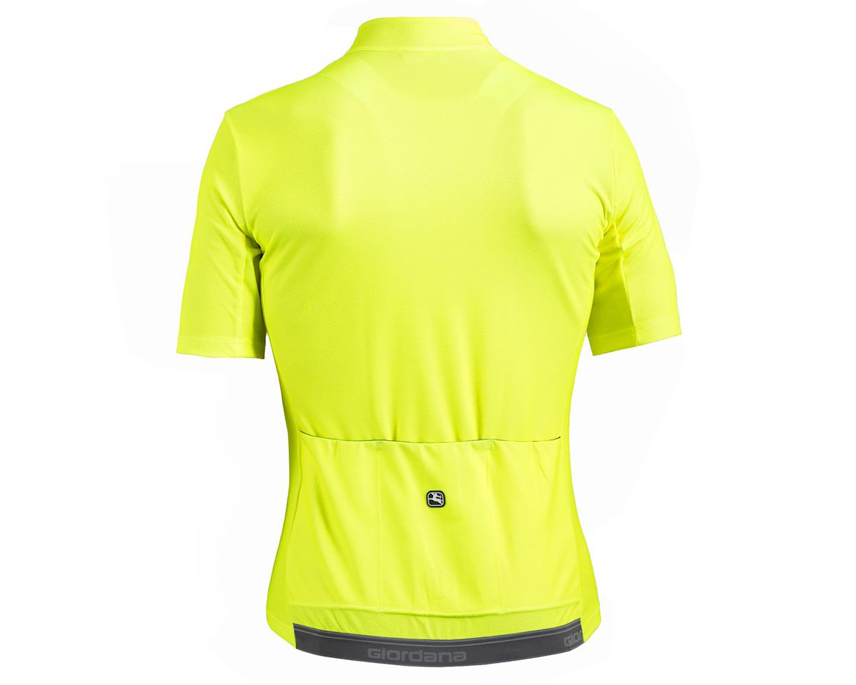 Giordana Fusion Short Sleeve Jersey (Fluo Yellow/Black) (L)