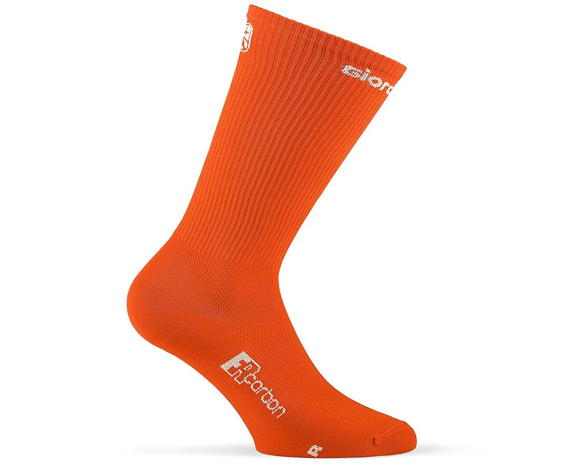 Giordana FR-C Tall Sock (Orange/White) (M)