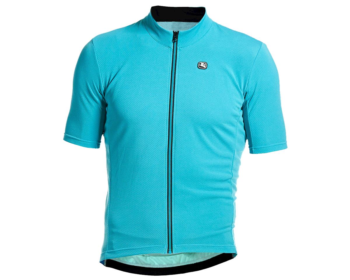 Giordana Fusion Short Sleeve Jersey (Teal Blue) (XL)
