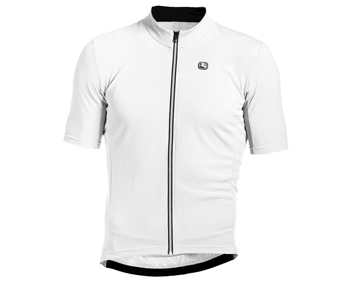 Giordana Fusion Short Sleeve Jersey (White/Black) (M)