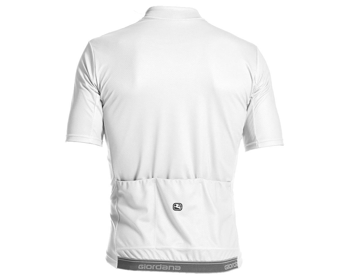 Giordana Fusion Short Sleeve Jersey (White/Black) (L)