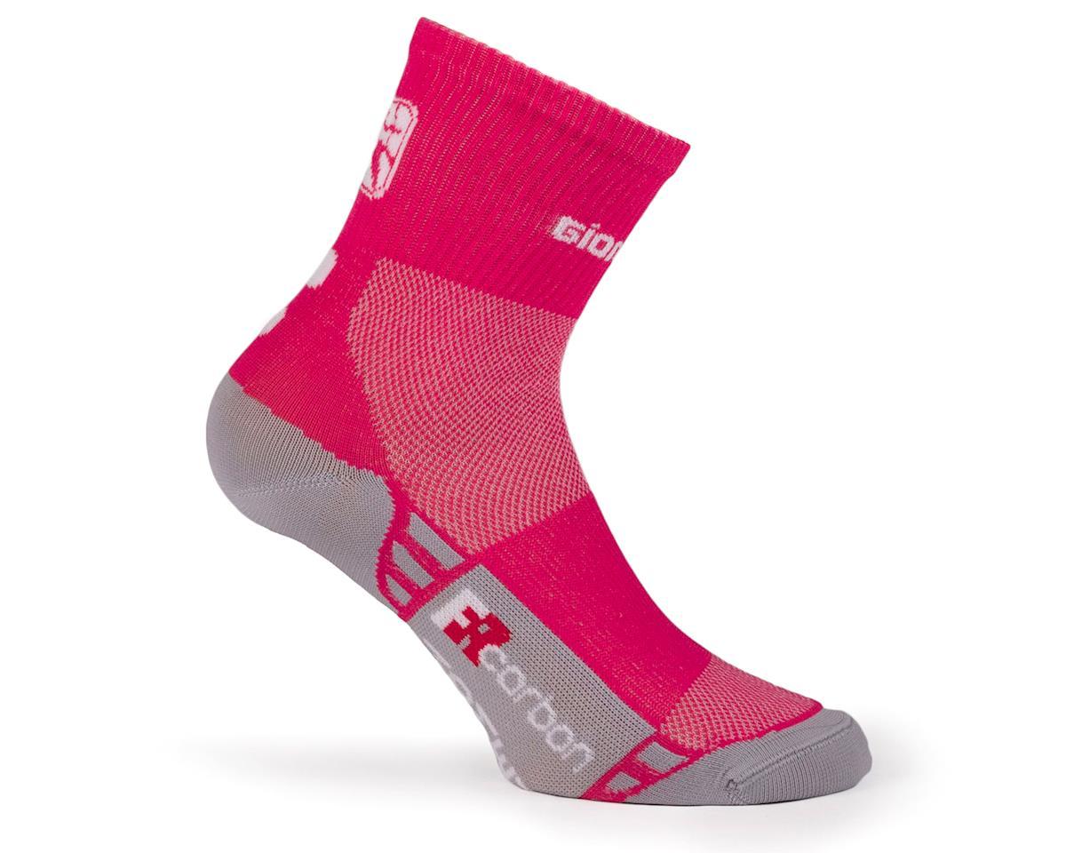 Giordana FR-C Women's Mid Cuff Sock (Pink/White) (S)