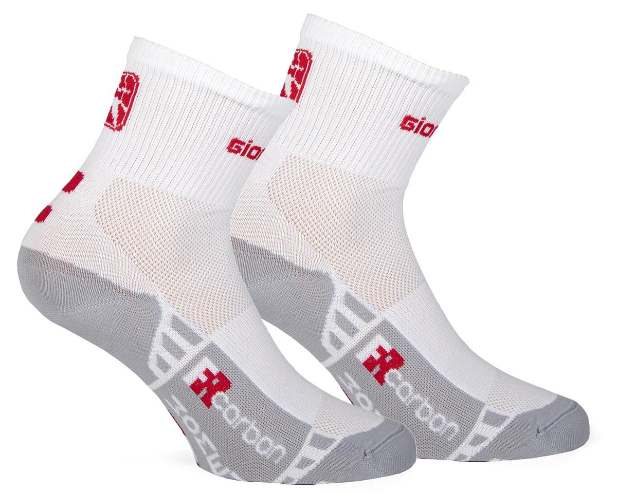 Giordana FR-C Women's Mid Cuff Sock (White/Red) (S)