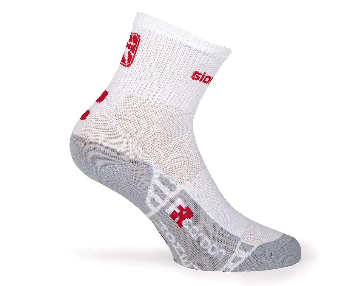 Giordana FR-C Women's Mid Cuff Sock (White/Red) (M)