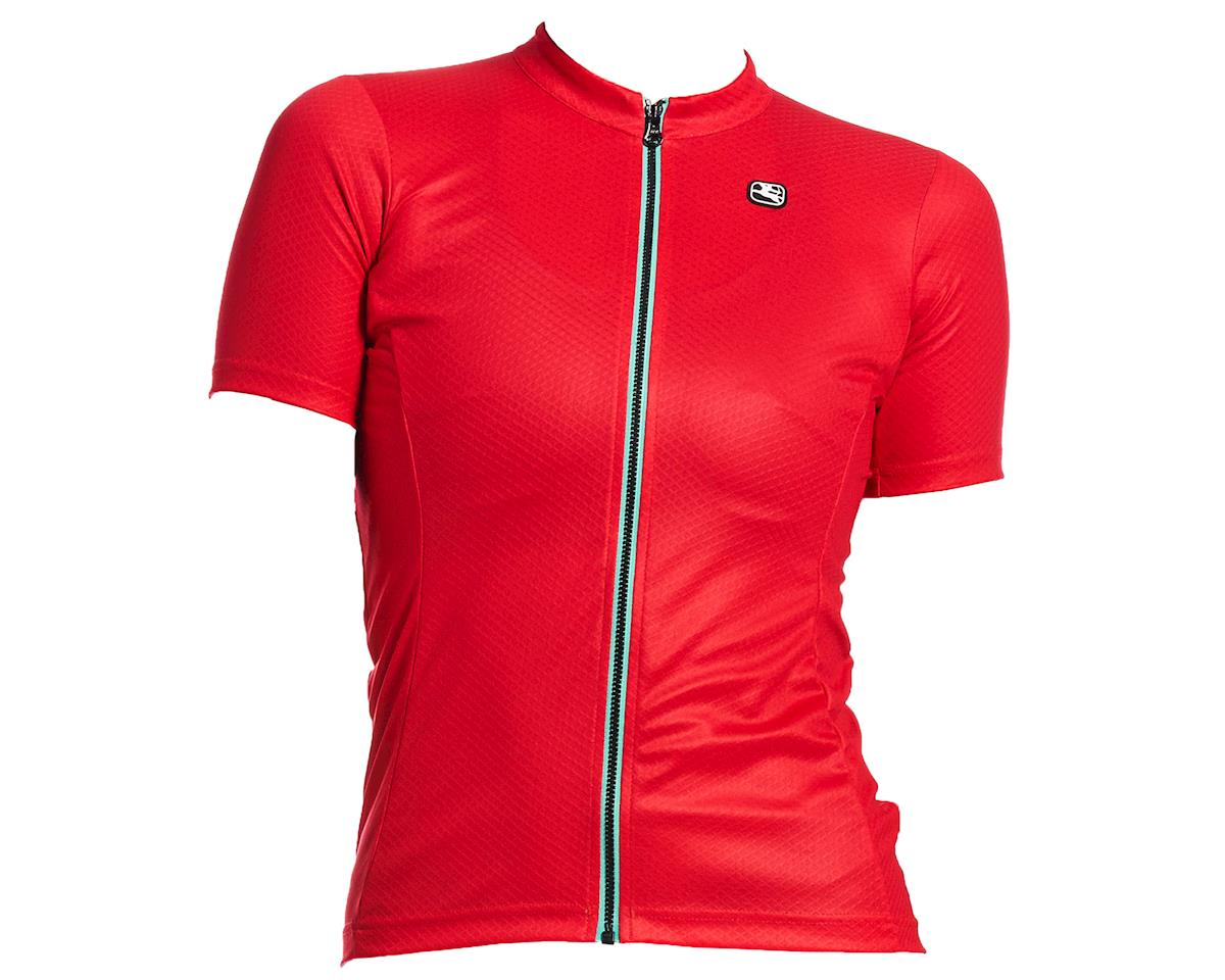 Giordana Women's Fusion Short Sleeve Jersey (Watermelon Red) (XL)