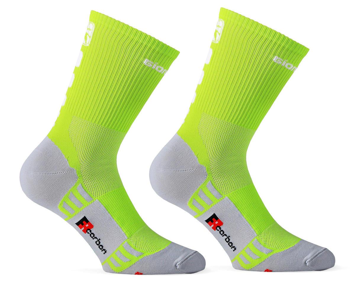 Giordana FR-C Sock Tall Cuff (Lime Punch) (M)