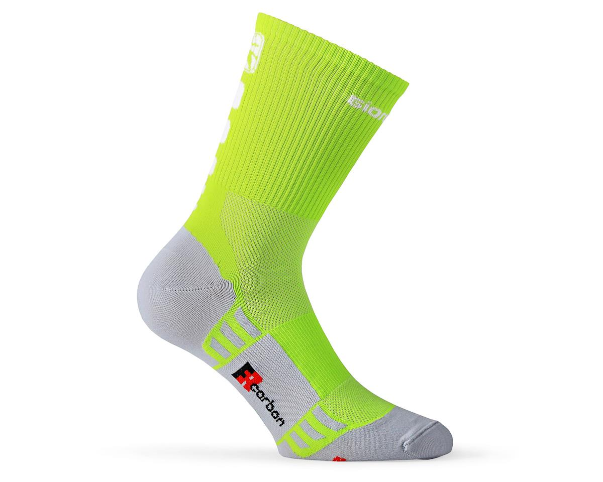 Giordana FR-C Sock Tall Cuff (Lime Punch) (L)