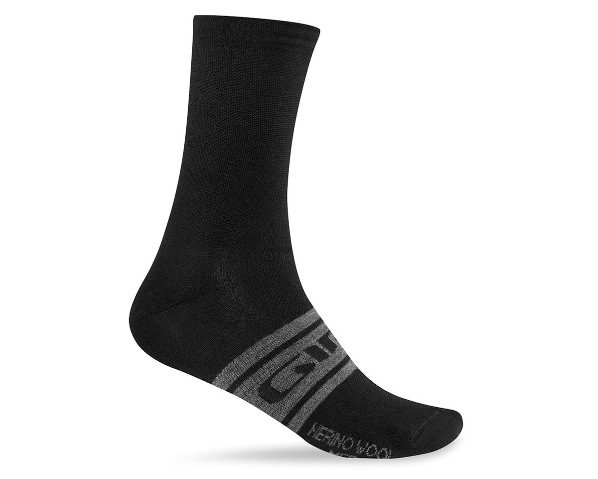 Giro Merino Seasonal Wool Socks (Black/Charcoal Clean) (S)