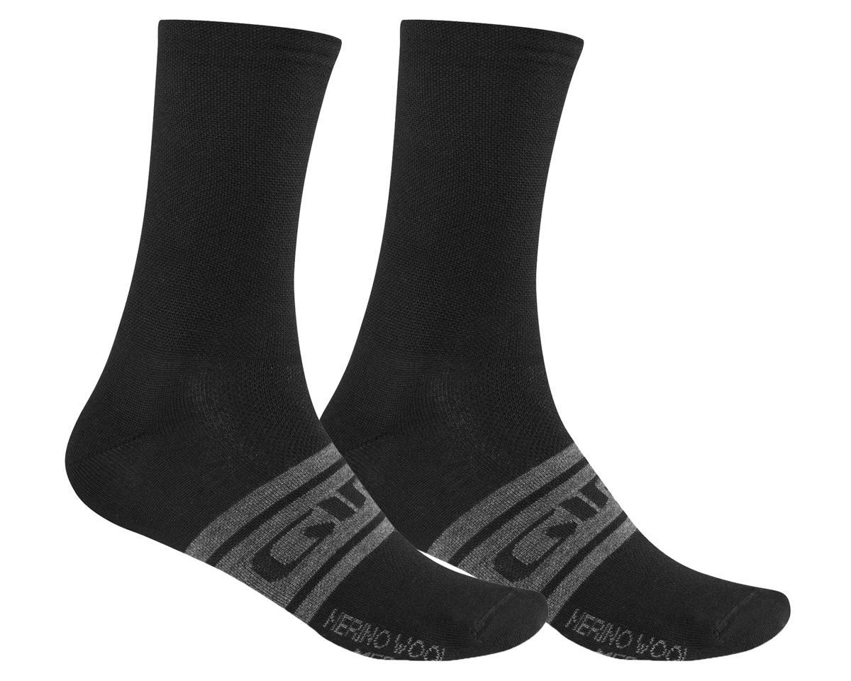 Giro Merino Seasonal Wool Socks (Black/Charcoal Clean) (M)