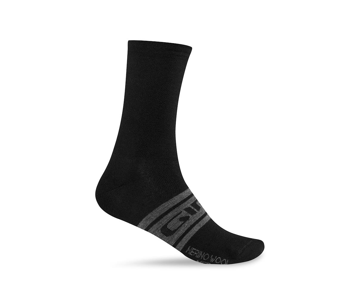 Giro Merino Seasonal Wool Socks (Black/Charcoal Clean) (L)