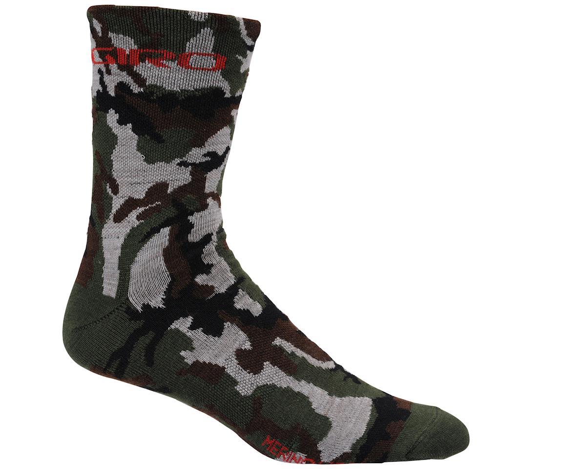 Giro Merino Wool Socks - Closeout (Camo/Glow Red) (X-Large)