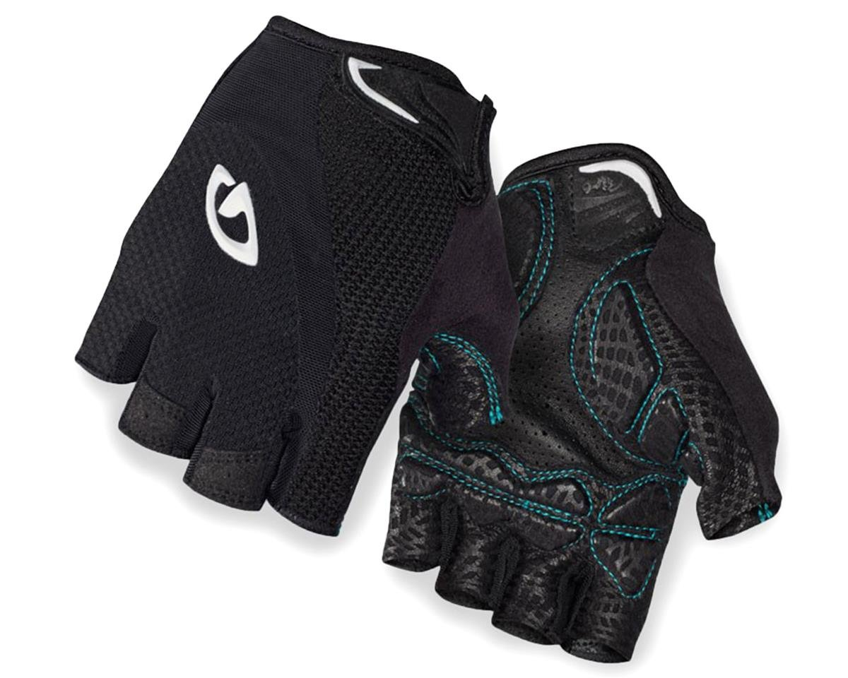 Monica Women's Short Finger Bike Gloves (Black/White)