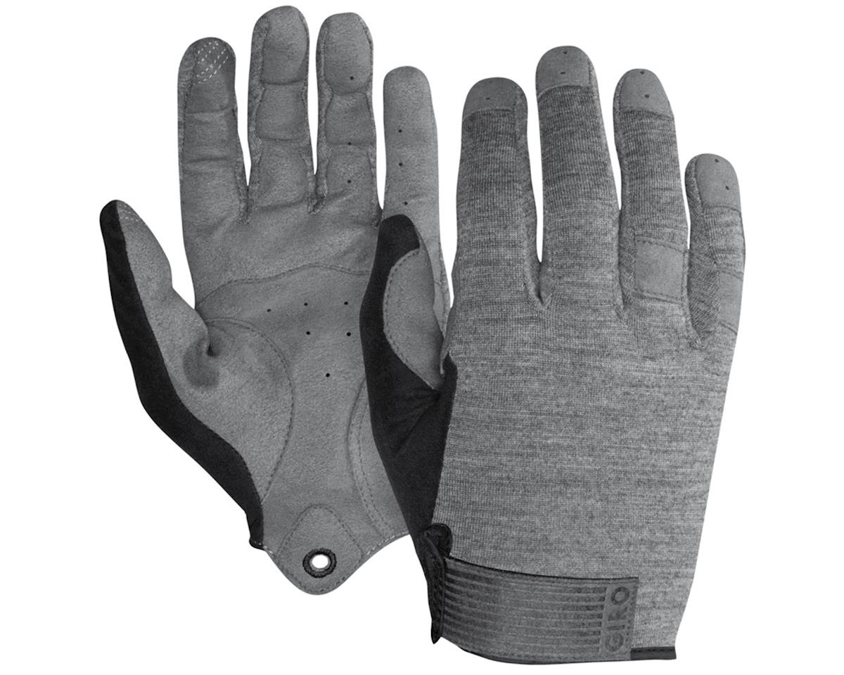 Giro Hoxton Long Finger All Season Bike Gloves (Mono Gray) (L)