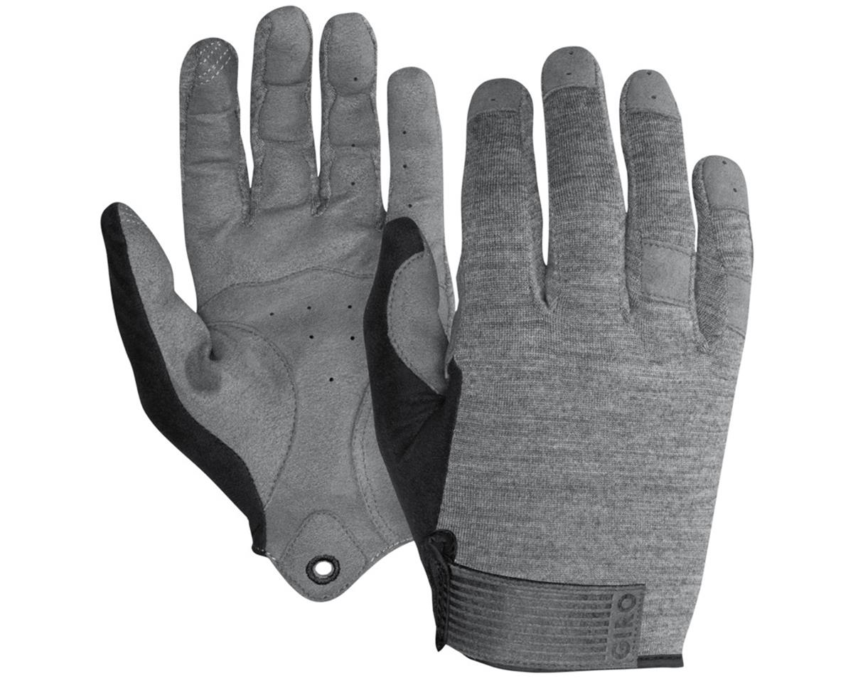 Giro Hoxton Long Finger All Season Bike Gloves (Mono Gray) (XL)
